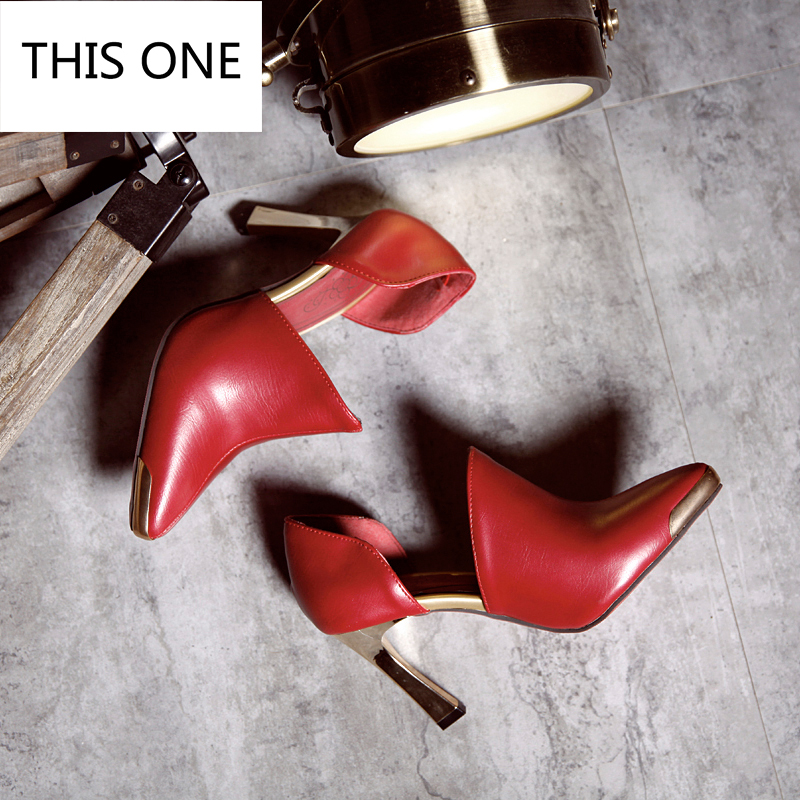 d5ca6e20 Bombas Estrecha Señoras Punta Cuero Sexy Mujeres La Caliente Boda Altos Fino  Tacones De Venta Patentes Mujer Talón Zapatos ...