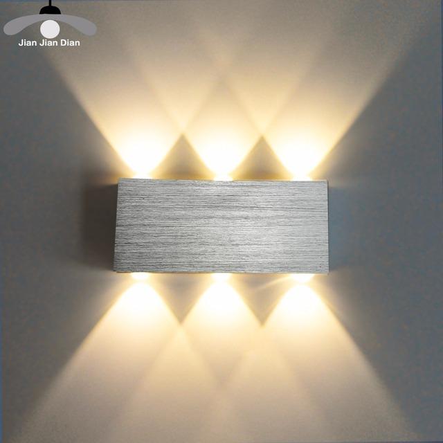 JJD LED Lampa ścienna Nowoczesna sconce schody oprawy oświetleniowej salon sypialnia łóżko łóżkowy oświetlenie wewnętrzne Strona główna korytarz Loft Silver