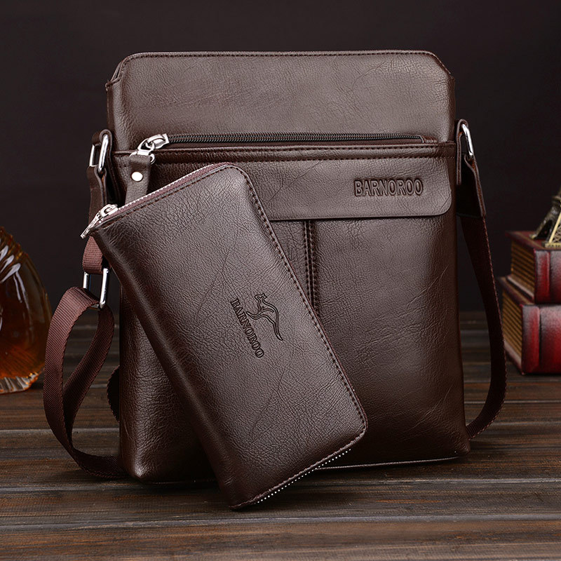 Brown with wallet