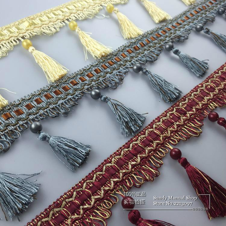 12Yard/Lot Curtain Laciness Tassel Fringe Decoration Wedding Application Curtains Sofa, Table Cloth, Bed Accessories