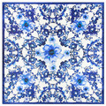 60 Cm * 60 Cm Classic Blue and White Porcelain Flowers In Spring Ms Emulation Silk Small Square Scarves 2017 New Fashion Style