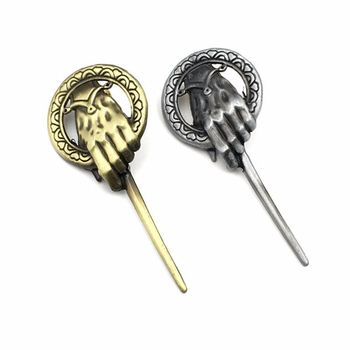 Game of Thrones Song of Ice and Fire Brooch Hand of the King Lapel Inspired Authentic Prop Pin Badge Brooches