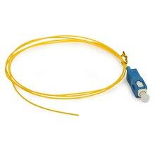 10 PCS 1 m SC UPC Monomodo pigtail da fibra Óptica de Alta qualidade 0.9 MILÍMETROS jumpers de fibra cabo de fibra óptica FTTH frete grátis