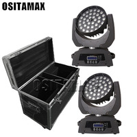 36x18w ring circle control wash effect led moving head rgbwa uv 6in1 dmx stage lighting with flycase packing