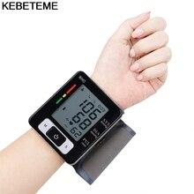 ЖК-дисплей с цифровым экраном домашний автоматический наручные кровяное давление Пульс сфигмоманометр и тонометр монитор пульсометр