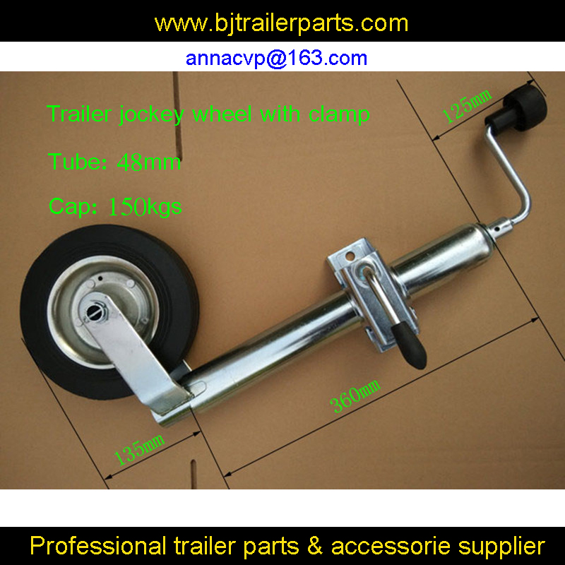 100pcs high quality trailer jack, trailer jockey wheel with clamp, trailer stand top wind,48mm tube, trailer parts
