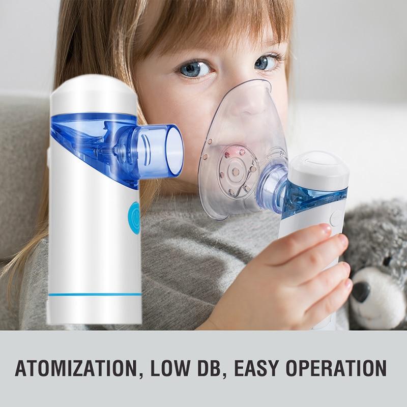 Ultrasonic Handheld Mist Inhaler Vaporizer Mist Inhaler Portable Mesh Nebulizer For Adult Children Health care Facial
