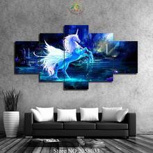 3-4-5 Шт. Синий Аннотация Лошадь Плакат Современные Wall Art Холст Печатные Картины для гостиной  Лучший!
