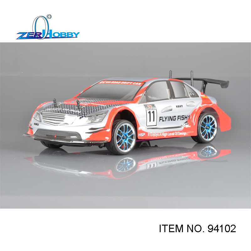 HSP RACING RC CAR FLYING FISH 94102 1/10 SCALE 4WD ON-ROAD NITRO SPORT RALLY RACING 18CXP ENGINE DOUBLE SPEED 02023 clutch bell double gears 19t 24t for rc hsp 1 10th 4wd on road off road car truck silver