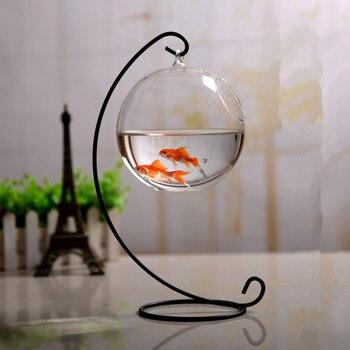 4sets/pack 23cm Metal Stand 12cm Glass Aquarium Iron Support Glass Vase Home Decoration Friend Birthday Gift Wedding Favor Gift