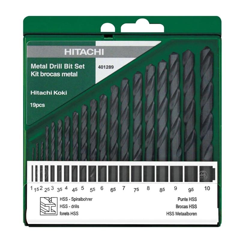 Japan HITACHI Twist Drill Bits Set For HSS Hand Drill Metal Wood Drilling Straight Shank Twist Drill Bits 13PCS 19PCS/Set