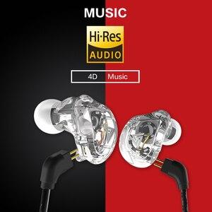 Image 2 - Oeiginal QKZ VK1 4 Dinamik Hibrid Kulak Kulaklık HIFI DJ Monito Koşu Spor Kulaklık 5 Sürücü Ünitesi Kulaklık Kulaklık ZS6 ZS10