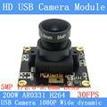 1080P 30fps breite dynamische USB Kamera modul eingang wache gesicht anerkennung allgemeine CCTV Kamera H264 Unterstützung doppel audio