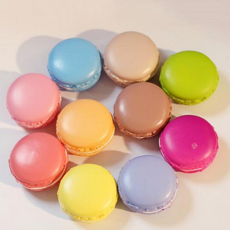Mini Kawaii Soft Dessert Simualtion Macaron Squishy Toys  Kitchen Toys Artificial Macaroons Decompression Squeeze Kids Toy Gifts
