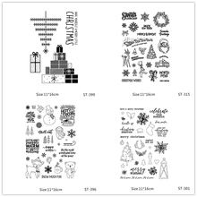 AZSG Christmas Tree Santa Claus Snowman Clear Stamps For DIY Scrapbooking/Card Making/Album Decorative Silicone Stamp Crafts