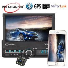 U Disk Playback 1 DIN radio cassette player Car GPS Navigation Reversing Image Radio 7 Inch Retractable Bluetooth Autoradio