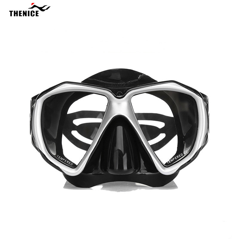 THENICE Diving Snorkel Mask Equipment Diving Mask Goggles Swimming Accessories Design Anti-fog  Myopia Lens HD High Coverage