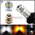 (2) No Hyper Flash BAU15S 7507 Blanco/Ámbar LED Switchback Bombillas w/Diseño Del Espejo Reflector Para Recepción de Señal de Vuelta luces o DRL