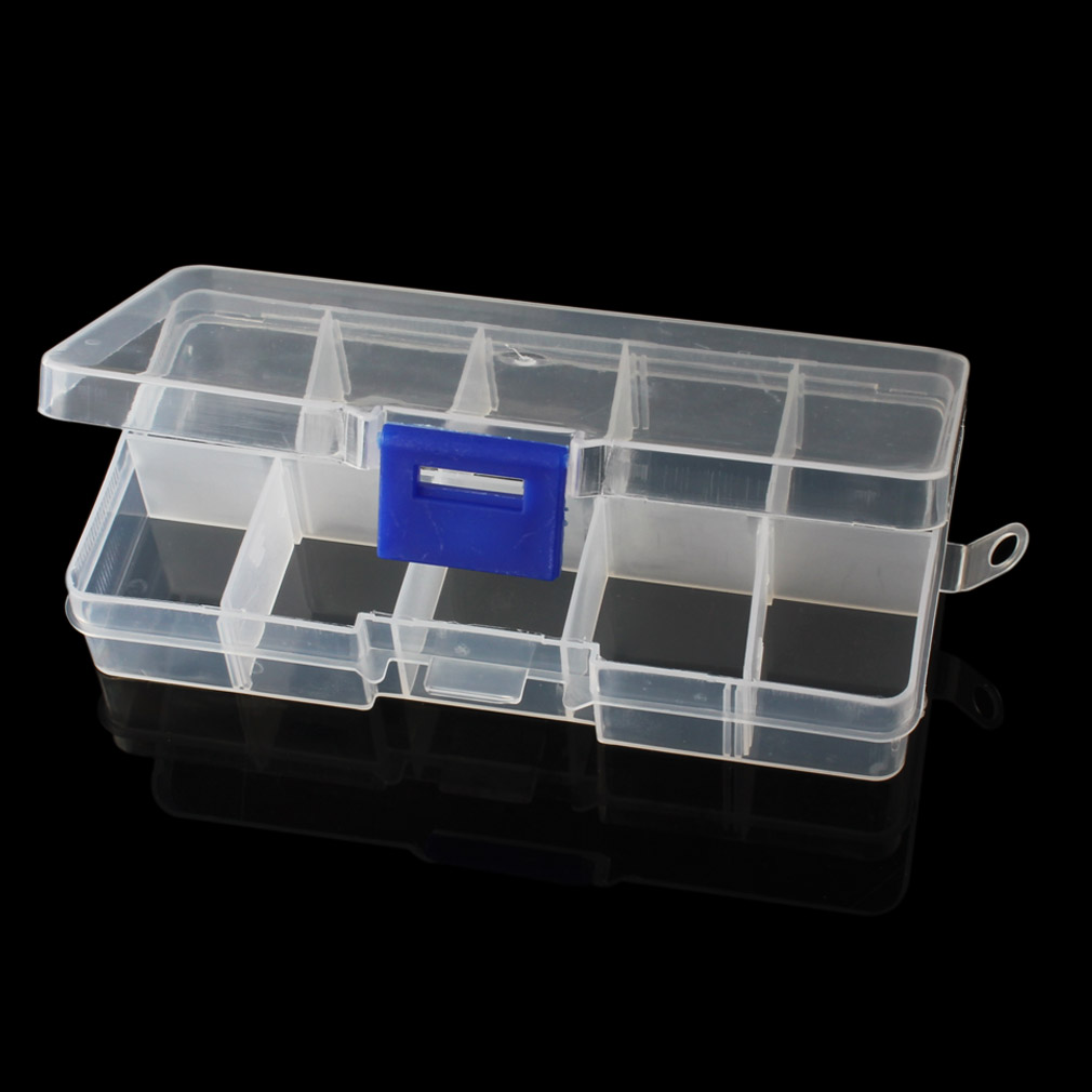 10 Compartment Portable Small Organiser Storage Plastic Box Craft Nail Fuse Beads in Storage Boxes Bins from Home Garden