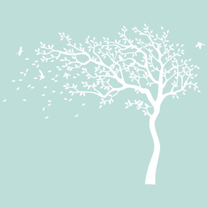 Image 3 - Large White Tree Birds Vintage Wall Decals Removable Nursery Mural Wall Stickers for Kids Living Room Decoration Home Decor
