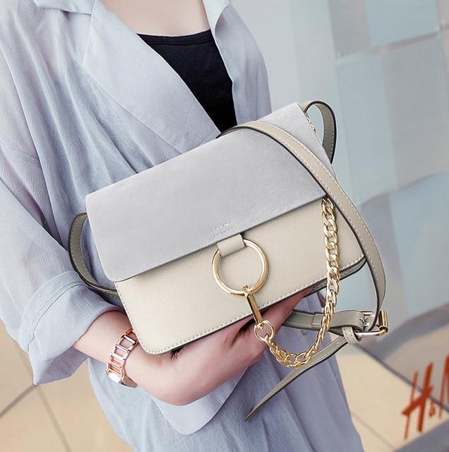 2016 New Women Leather Handbags Chain Bag Crossbody Women Shoulder Bag Messenger Bags Famous Brand Designer Bolsa
