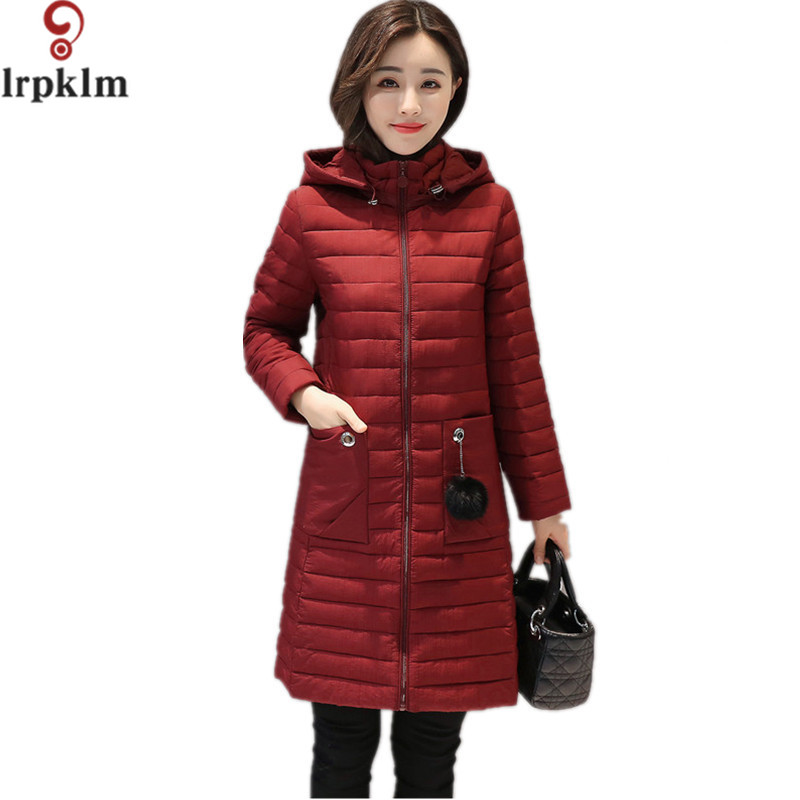 Female Warm Winter Jacket Women Coat Navy Ultra Light Parka Ultra-light Jacket Long Slim Plus Size L-5XL Parka Outwear LZ284 hot autumn womens slim wool warm coat parka navy blue size s xl light tan red navy