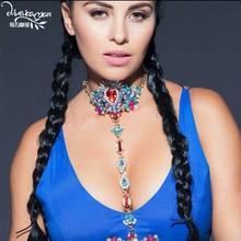 Dvacaman Marque 2016 Facebook De Mode corps Chaîne Choker Collier Femmes De Noce Déclaration Corps Bijoux Accessoires Cadeaux C27
