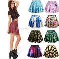 Fashion Women Empire Gradient Vestidos Skirt Casual School Girls Skater Pleated Skirts 2016 New