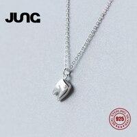 JUNG Couple Lovers Fashion Sweet Cute Personality AAA Zircon Teeth 925 Sterling Silver Jewelry OL Pendant Necklace Women xl1513