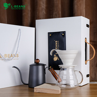 Hand Punch Pot Coffee Maker Set Gift Box Pot Drop Filter Cup Household Brewing Coffee Appliance Combination Kitchen Appliances