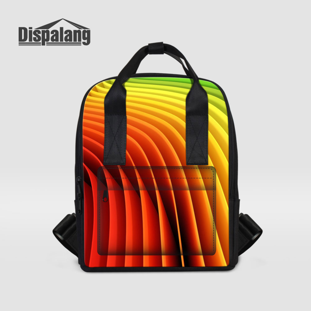 Dispalang Designer Colorful Backpack For Women Laptop Backpacks Girls School Bags For Teenagers Summer Travel Bag Mochilas Mujer