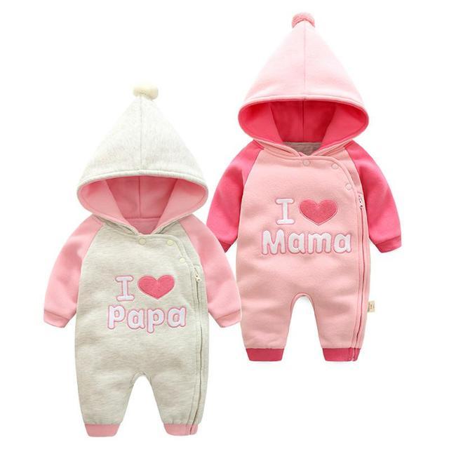 Bedwelming 2017 fashion twins i love papa mama baby kleding, katoen wit en &JV39