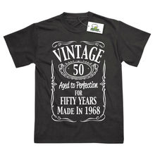 50th Birthday Vintage Made In 1968 Funny Printed T-Shirt MenS T-Shirts Summer Style Fashion Swag Men T Shirts. free shipping