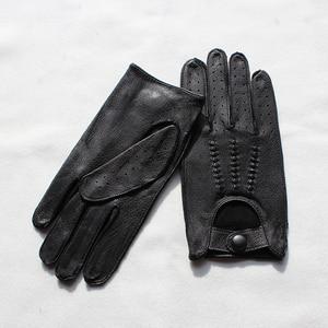 Image 3 - עור צבי כפפות גברים של אופנוע שכבה אחת דק סעיף אופנה חדש אביב קיץ סתיו רוכב אופנוע עור כפפות