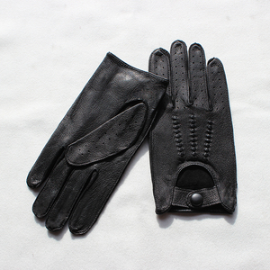 Image 3 - Deerskin gloves mens motorcycle single layer thin section fashion new spring and summer autumn motorcycle rider leather gloves
