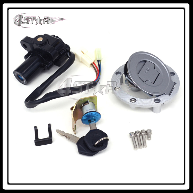 Motorcycle Lockset Ignition Key Switch Fuel Gas Cap Lock Keys For YZF R1 04-12 R6 06-11 FJR1300 01-10 FZ6 FZ6S FZ6N 04-10