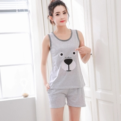 short pants + short sleeve tops   pajamas     sets   cotton nightwear yards M-XXXL cartoon pyjamas women vest summer sleepwear 2pcs/  set