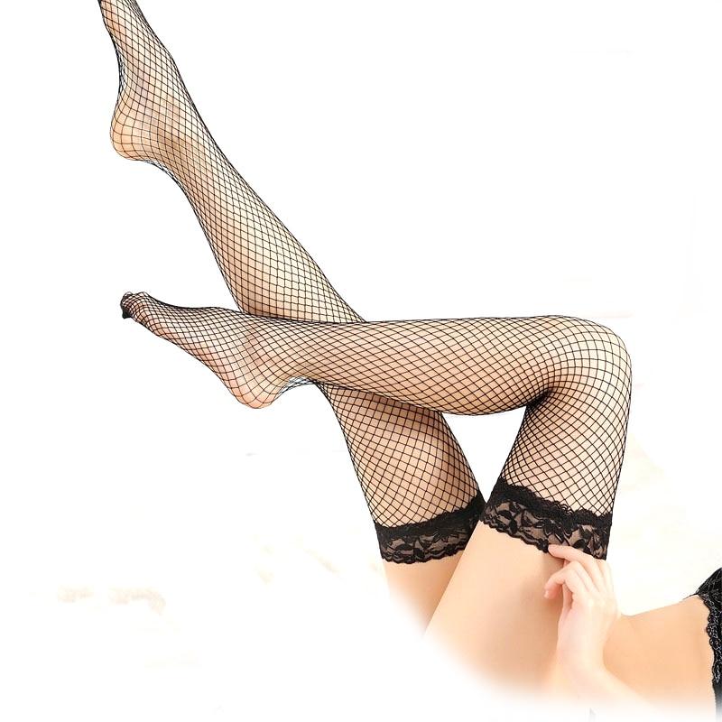 Women Uniform Temptation Sexy Lace Stockings Erotic Lingerie Slim Leg Hollow Fishing Net Mesh Stockings Nightclub Exotic Sex Toy