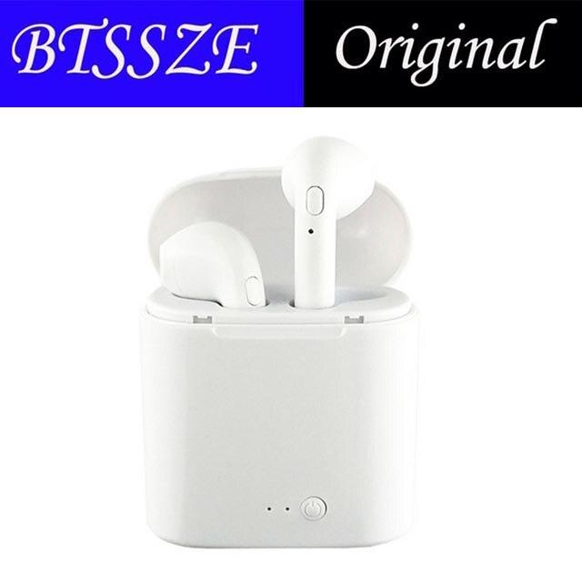 Original i7 TWS auricular Bluetooth auriculares inalámbrico libre con micrófono estéreo portátil auricular para android para iphone