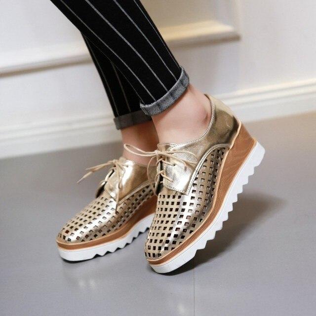 9c5166845 Moda Apressado Real Senhoras Mais Sapatos Tamanho Grande 34-43 Calçados  Femininos Sandálias 2017 Sapato