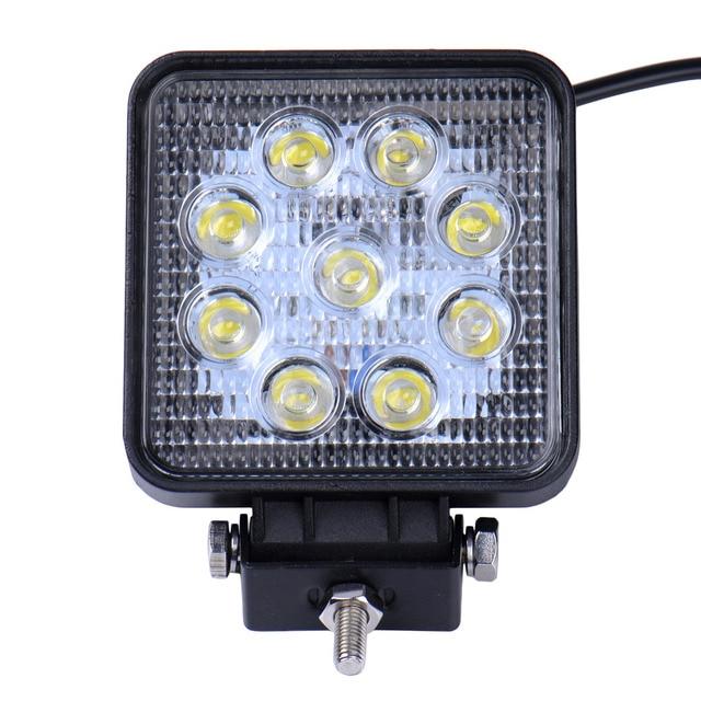 10pcs 27W 2700LM Car LED Work Light Spotlight Spot light Lights IP65 Combo Beam Truck Trailer For Boating Hunting Fishing SUV