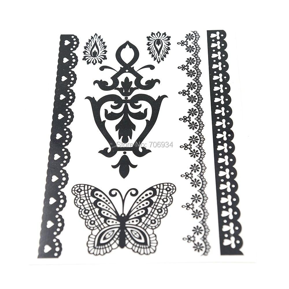 Temporary Black Henna Tattoo: Aliexpress.com : Buy New Temporary Tattoo Black&White
