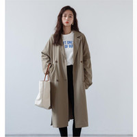 Casual Trench Women Coats Loose Long Trench Coats Womens Spring Autumn Fashion Windbreaker Bat Sleeve Female