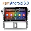 Frete grátis NOVO Android 6.0 Car Multimedia GPS Quad Core 10.2 polegada 1024x600 Tela HD Para Toyota NOVO Vios 2015 2016