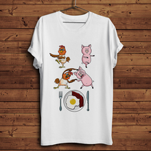 Funny T-Shirt Chicken Hipster Casual Men Summer And Cool Pig-Dragon Fusion Homme Dance