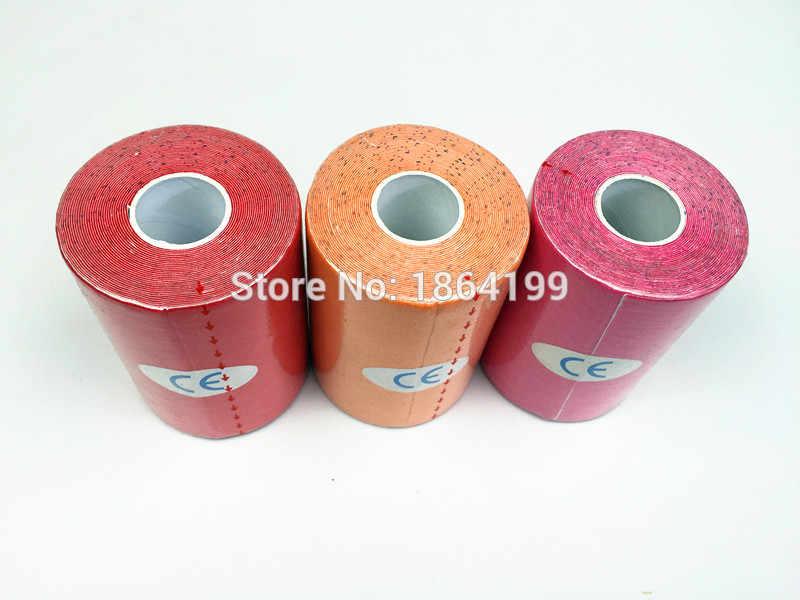 Gran rollo 10cm cinta de kinesiología grabando atlético, cinta de algodón, cinta de grabación flejes rodilla muscular