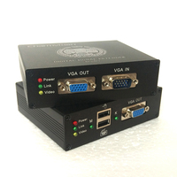 Charmvision EKU100HR 100 м USB VGA KVM Extender через один RJ45 STP UTP cat5e кабель с 2 портами USB для CCTV Управление