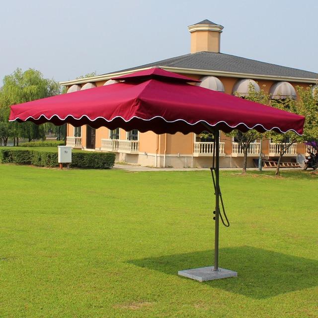 2.2x2.2 Meter Steel Iron Outdoor Parasol Garden Sun Umbrella Patio  Furniture Cover Sunshade