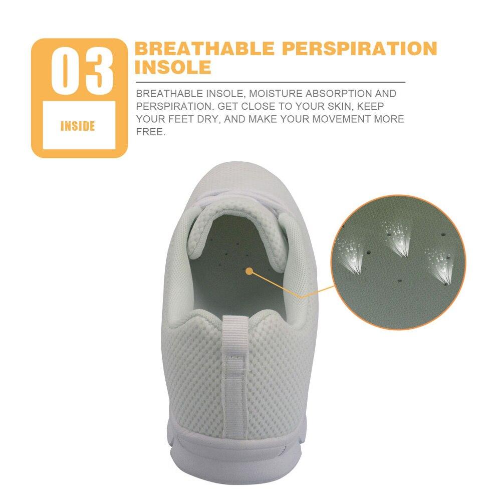 Fleur Mesh De h9867aq Instantarts Laçage Air Sneakers Confort Élégant Respirant Femmes Customaq Imprimer Piano Plates Pour Chaussures Appartements Marche Dames dfqwf86