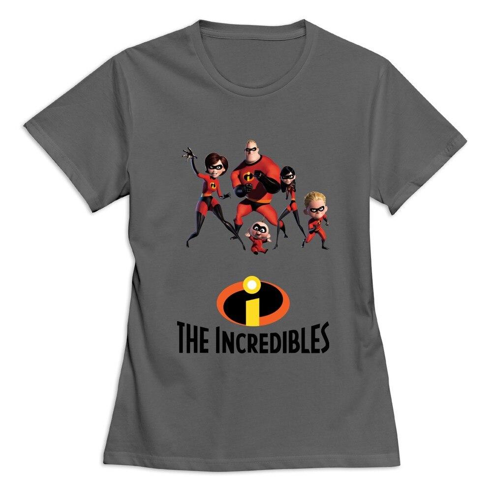 Los increíbles 2 logo camiseta para mujeres O cuello